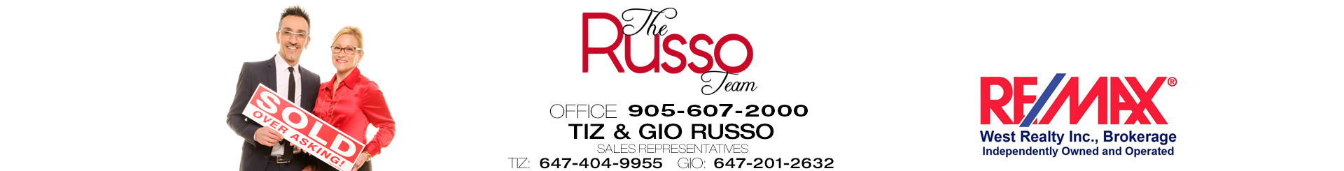 Tiziana Russo, Salesperson of REMAX West Realty